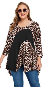 Fashion Leopard Fall tunic tops