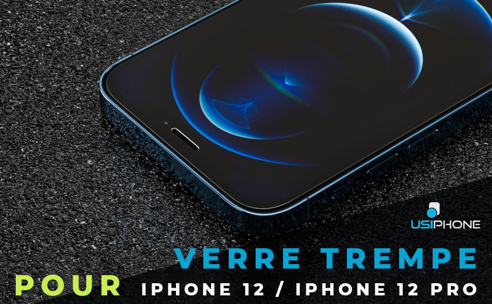 UsiPhone Lot de 3 Verres Trempés Compatible avec iPhone 12 / iPhone 12 Pro