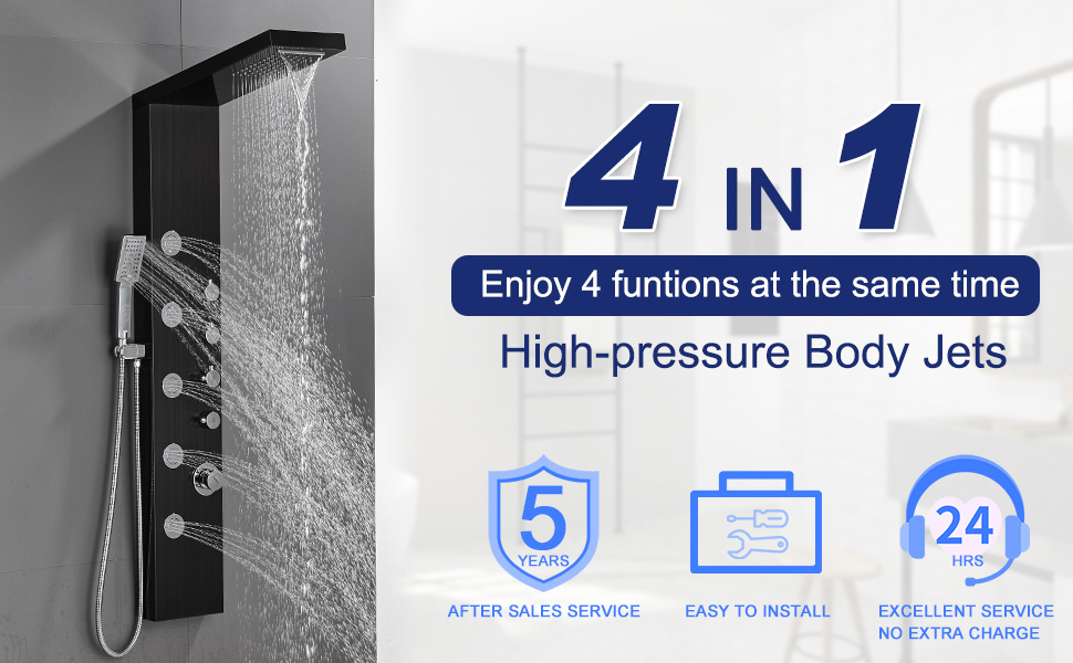 ROVATE SHOWER TOWER PANEL SYSTEM