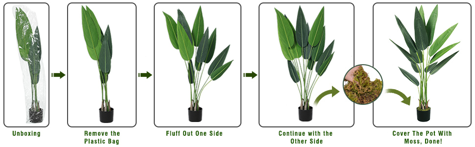 bird of paradise artificial plant faux plants tall fake plants indoor for home decor