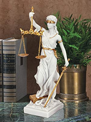 Themis Justice Bonded Marble Statue