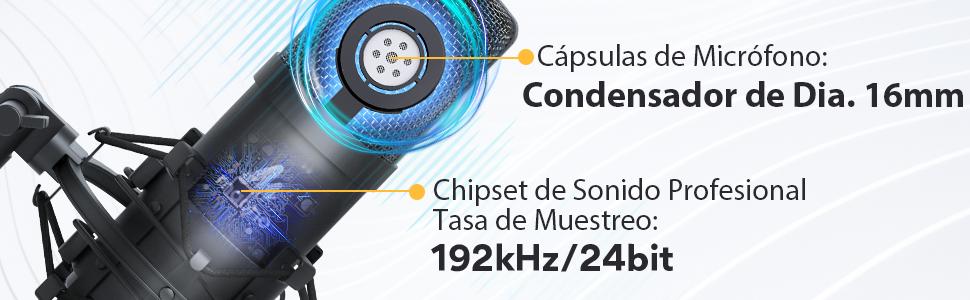MICROFONO CONDENSADOR 162KHZ/24BIT