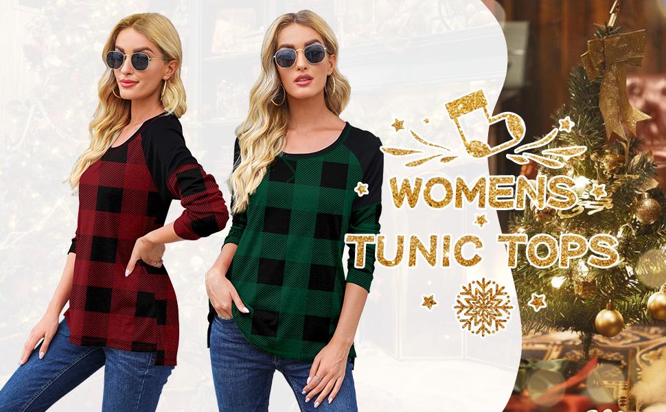Christmas AYIFU womens fall long sLeeve tunic tops casual spring blouse