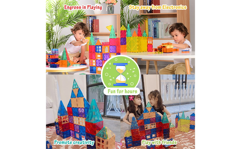 Engross in playing, stay away from electronics,  learning through play