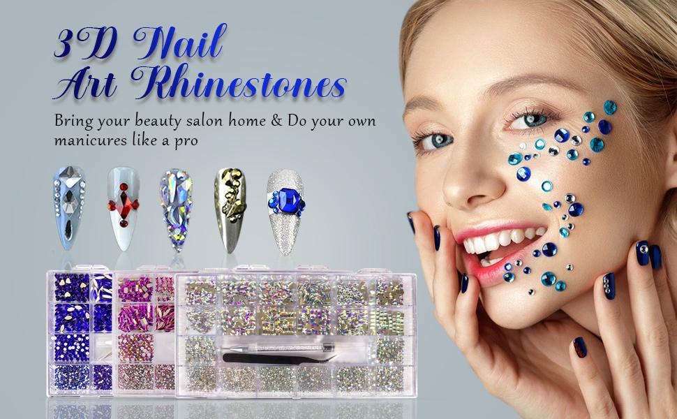 Nail art rhinestones