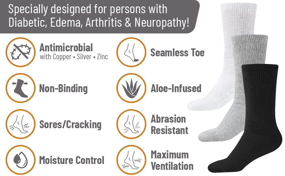 diabetic non binding mens womens socks loose fit diabetes elderly hospital