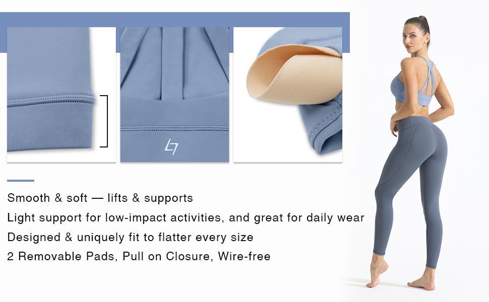 FITTIN Sports Bra, workout top for women, sports bras, crop top for women, high support sports bra