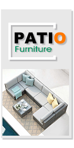Patiorama 7 Pieces Outdoor Patio Furniture Set, All Weather Rattan Sectional Conversation Set