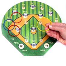 Hook a Hit with hand and ring to show size of board