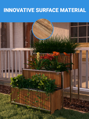 Elevated Large Planter for Outdoor Plants