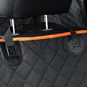 car back seat cover with snap buckles
