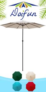 10ft Round Patio Umbrella