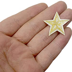 3.5cm star iron on patches