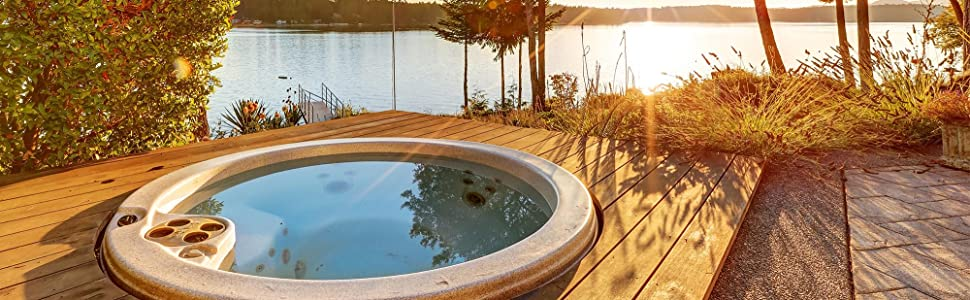 Scenic natural spa clarifier for hot tubs. Use our hot tub clarifier with natural enzymes.