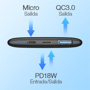 bateria externa carga rapida 10000mAh