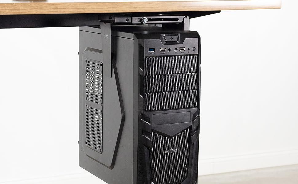 under desk vented pc mount