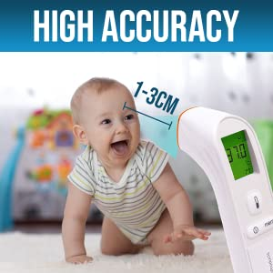 high accuracey temperature gun thermometer adult baby forehead