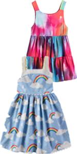 Girls Rainbow Summer Dress