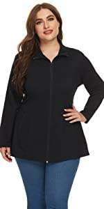 fit and flare jackets for women plus size