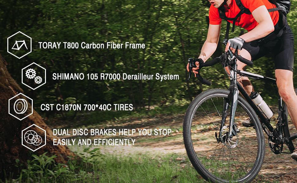 T800 Carbon fiber frame