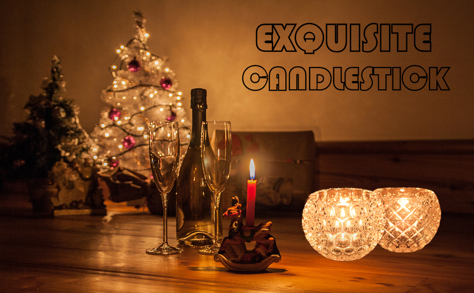 WILTEEXS 2PCS Tealight Candle Holder Resin Mold