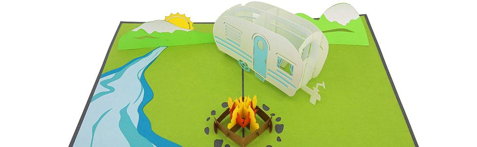 PopLife Camping Trip 3D Father's Day Pop Up Card