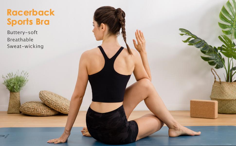 lavento racerback sports yoga bra