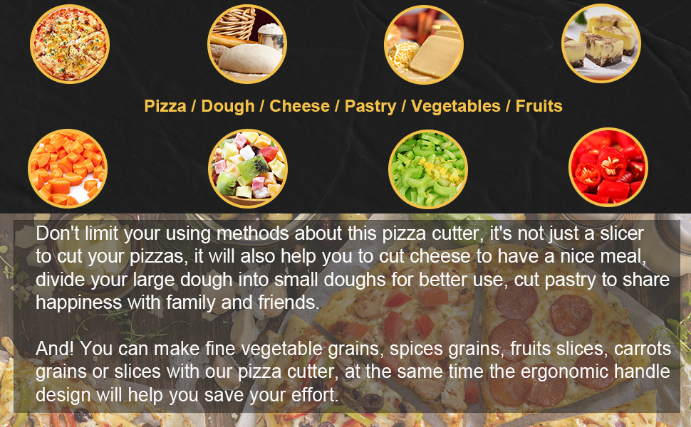 Pizza / Dough / Cheese / Pastry / Vegetables / Fruits CUTTER