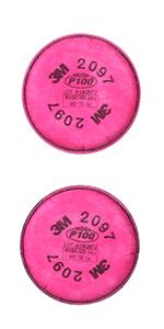3M PPE Particulate Filter 2097, P100 Respiratory Protection,Nuisance Level Organic Vapor Relief