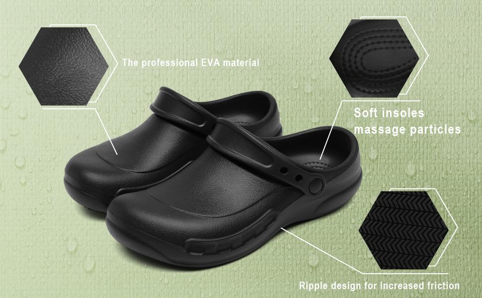 Chef Nurse Mens Shoes Black Non Slip Waterproof Oil Resistant Menamp;amp;#39;s Kitchen Shoes
