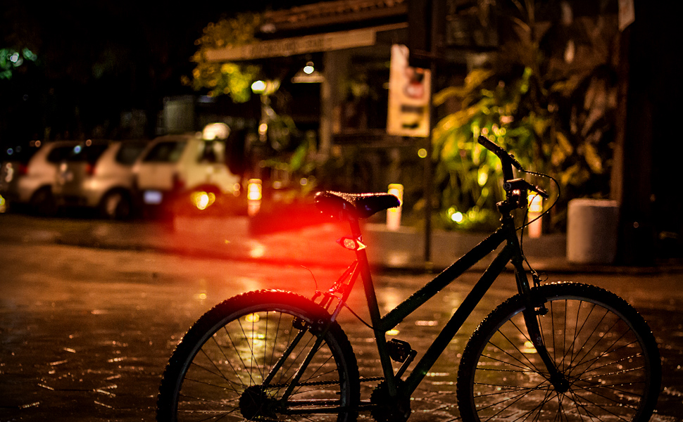 Bicycle Turning Tail Light for Safety