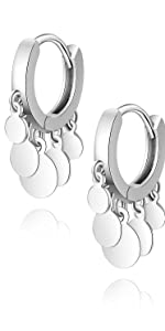 Round Disc Tassel Earrings