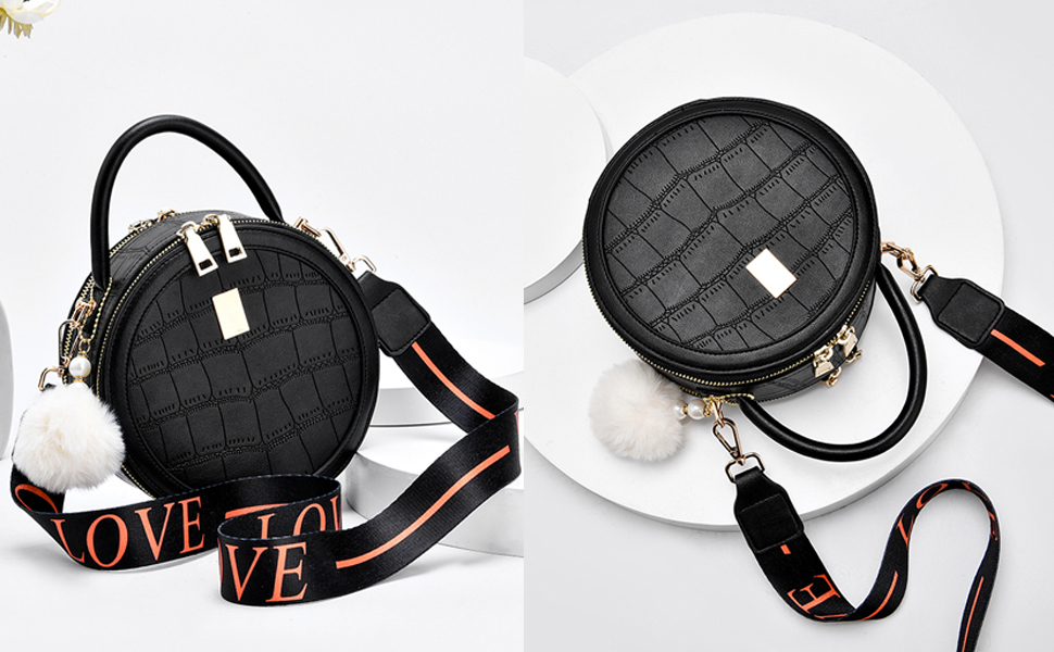 Crossbody Bags for Women Round Purse Circle Bag