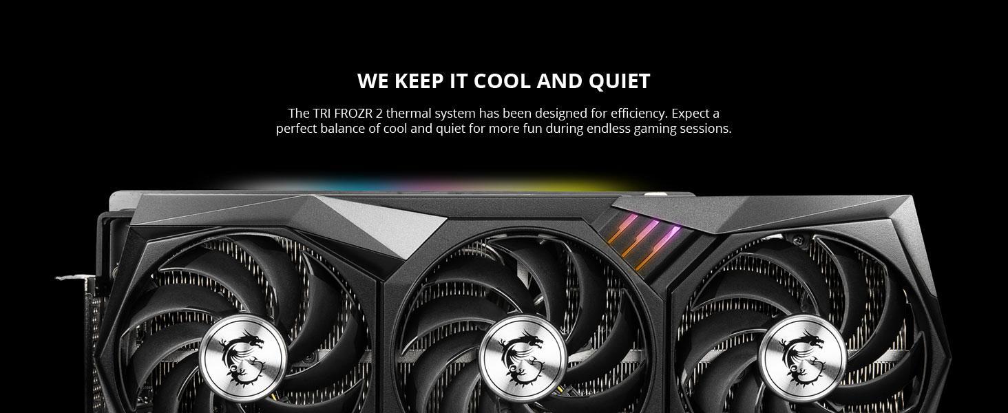 tri frozr 2 heatsink cooler cooling fans triple fan