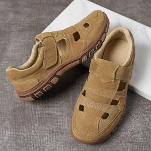 Vintage Mens leather sandal shoes for hiking beach walking