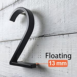 floating house number outside