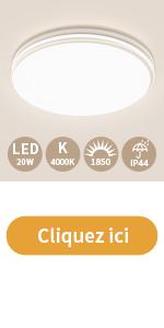 Öuesen Plafonnier LED 20w 4000k 1850lm 26cm