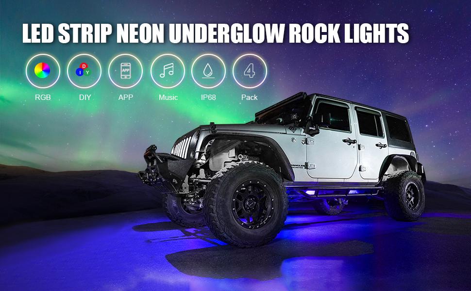 Underglow rgb rock lights
