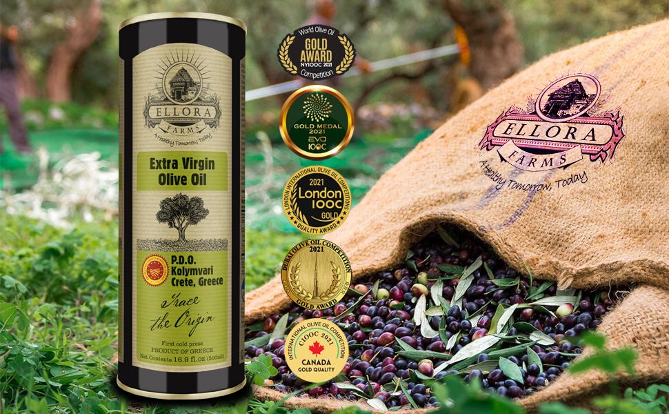Ellora Farms PDO 500 ml extra Virgin Traceable Olive Oil