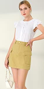 Flap Pockets Skirt