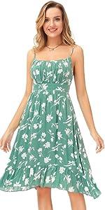 Vestido Estampado Floral de Tirantes Finos