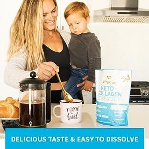 Delicious Non-Dairy Vanilla Collagen Creamer Dissolves Easily