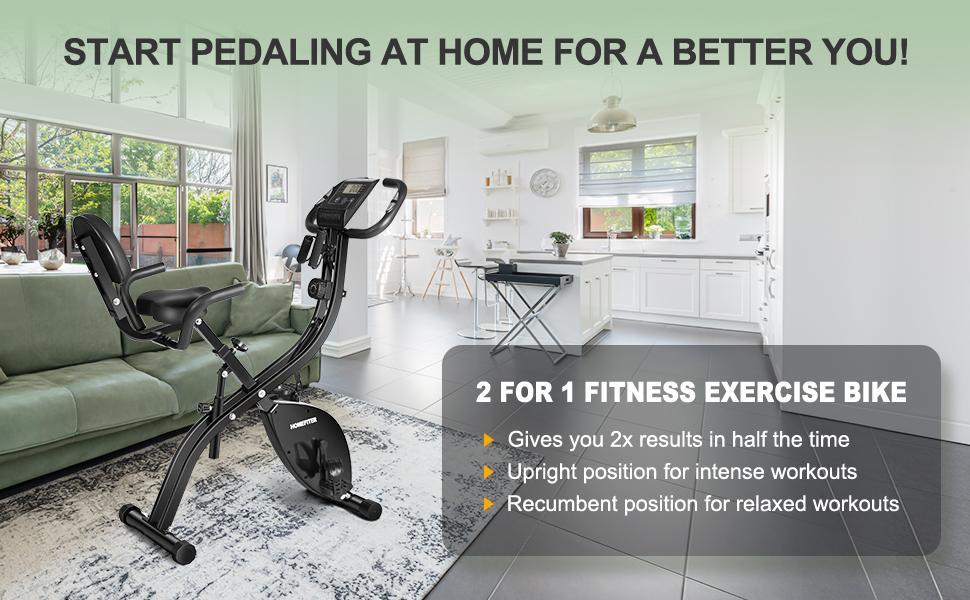 HOMEFITER folding exercise stationary bike