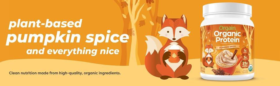 plant-based pumpkin spice protein powder
