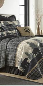 Bear Walk Plaid, Donna Sharp, Quilts, Quilt Sets, Lodge, Bear Pattern