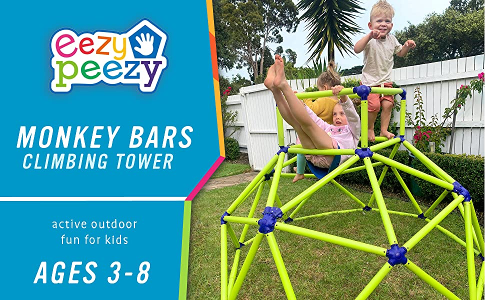 monkey bars climbing tower for ages 3-8