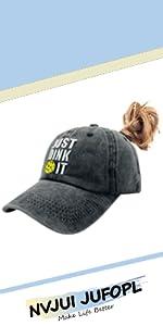 Pickleball Ponytail Hat