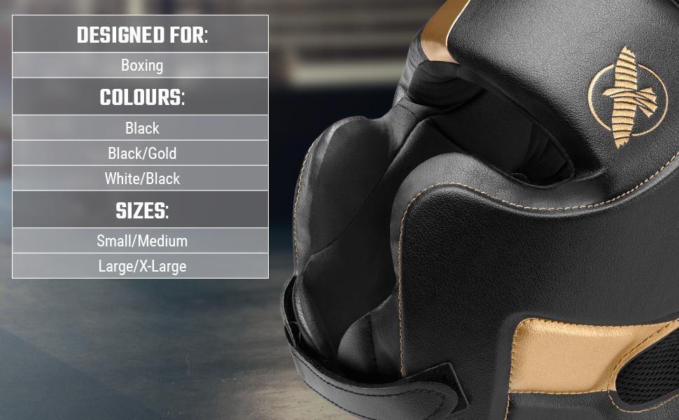 T3 Boxing Heardgear for Boxing Black Black/gold White/Black Adjustable Medium Large
