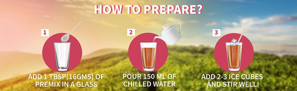 ice tea lemon powder instant premix how to prepare easy use make