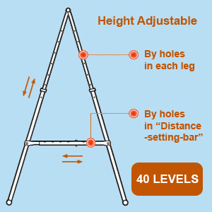 height adjustable yoga trapeze stand frame